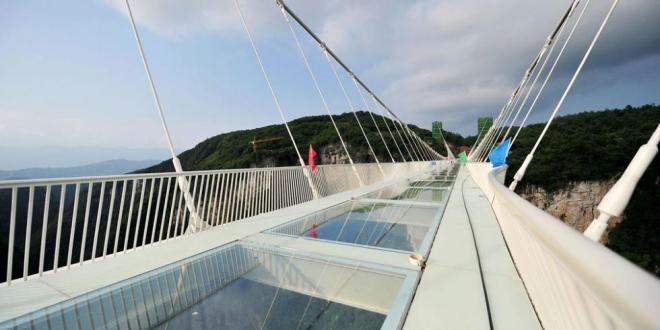 Clausuran el puente de cristal de China a solo 2 semanas de abrirlo