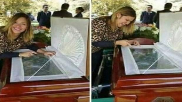 Fue al velorio de su ex y se burló del cadáver.