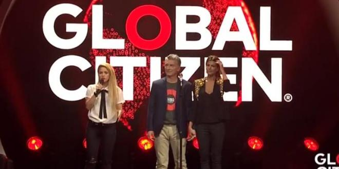 Video : Macri junto a Shakira y con chistes futboleros para los alemanes