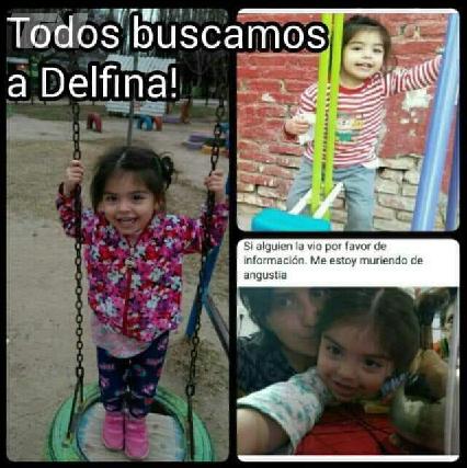 Buscan a Delfina, de 3 años