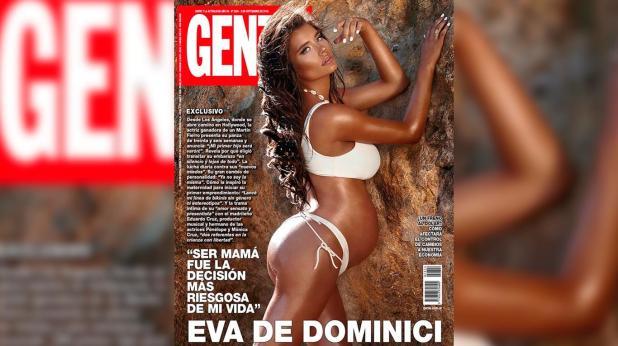 Polémica por la foto de Eva de Dominici embarazada