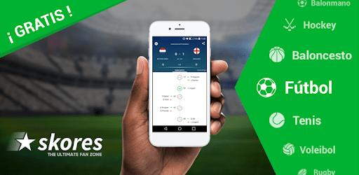 La aplicación de Skores, una opción ideal para los futboleros