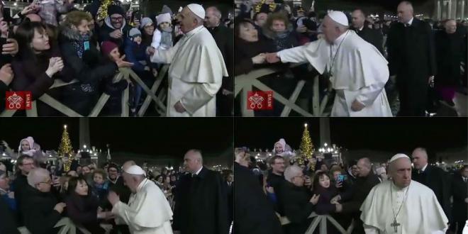 Video: El Papa pidió perdón por su reacción