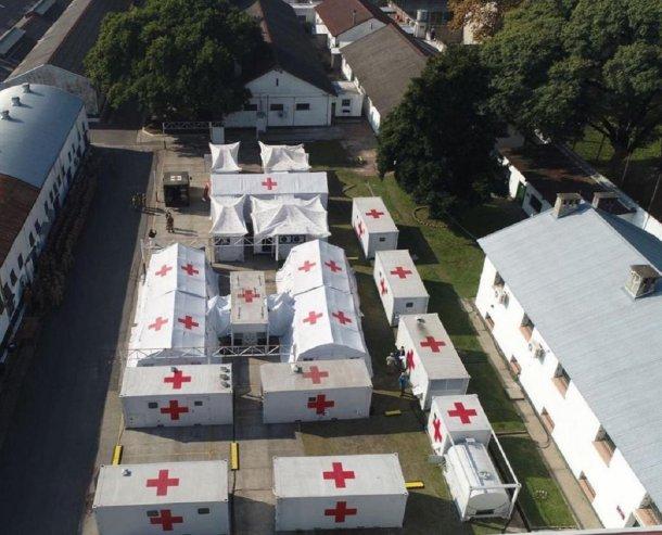 El ejercito prepara un hospital en Campo de Mayo