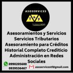 Asesoramientos y Servicios Servicios Tributarios Asesoramiento para Créditos Historial Completo Crediticio Administración en Redes Sociales