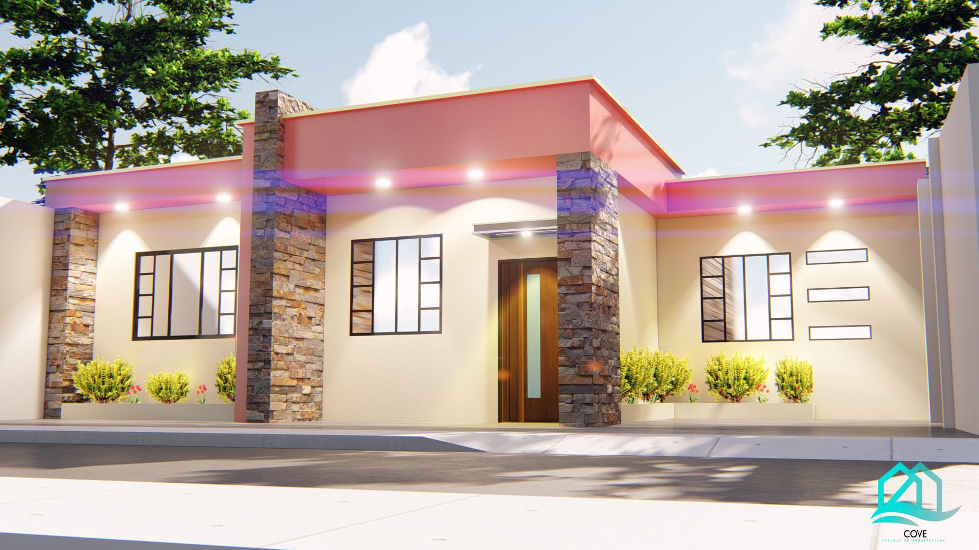 casa fachada CH con logo