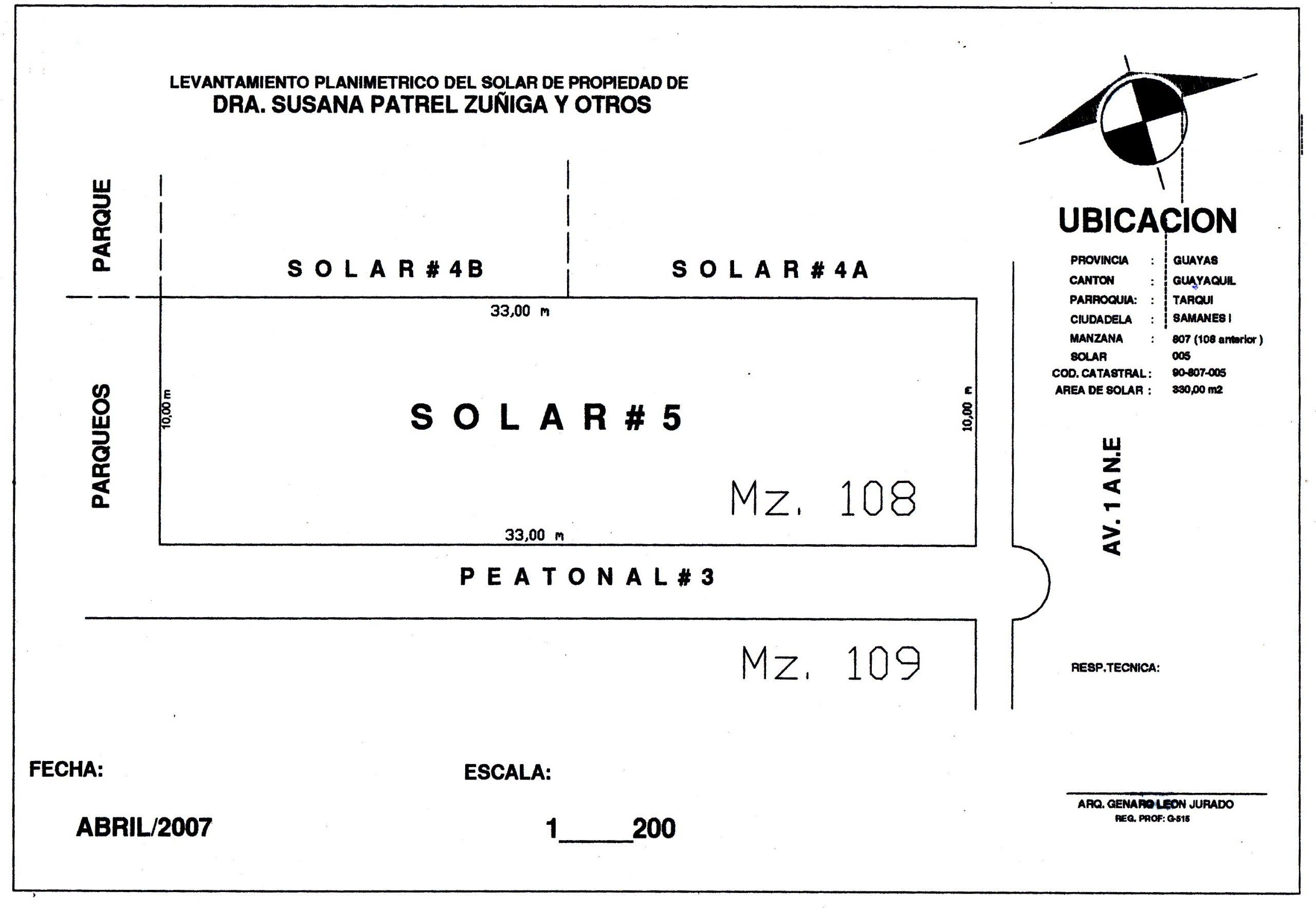 Lavantamiento Topografico Terreno de Samanes