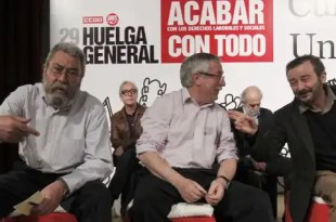 Sindicatos aprueban la convocatoria de huelga general el 14-N