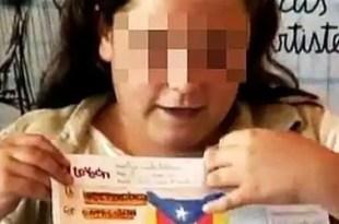 Programa local utilizar niños para reivindicar la independencia de Cataluña