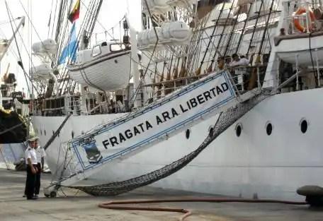 Más tensión entre Ghana y Argentina por el embargo de la Fragata Libertad