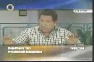 Vídeo de Chávez en 2004 diciendo que no iba a estar el 10 de enero de 2013