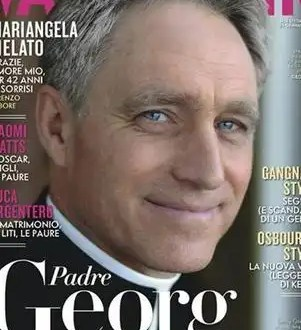 Vanity Fair le dedica su portada al secretario del Papa - Fotos