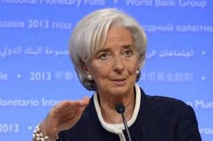 Lagarde advierte signos de ralentización en el crecimiento de la economía global
