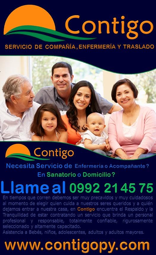 Contigo Servicio de Enfermeria y Compañia en Paraguay, Contratacion de Enfermeria y Compañia en Paraguay 2