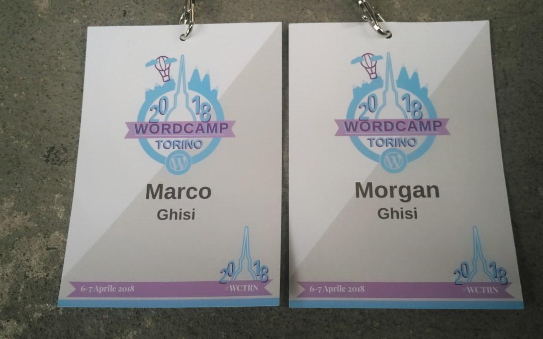 Partecipazione al Wordcamp Torino 2018