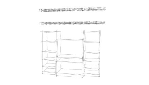 Sketch of the closet storage