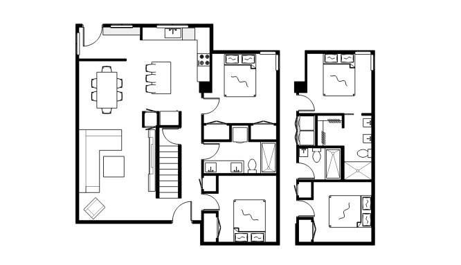 Main Floor - Option 2 + alt Bath option