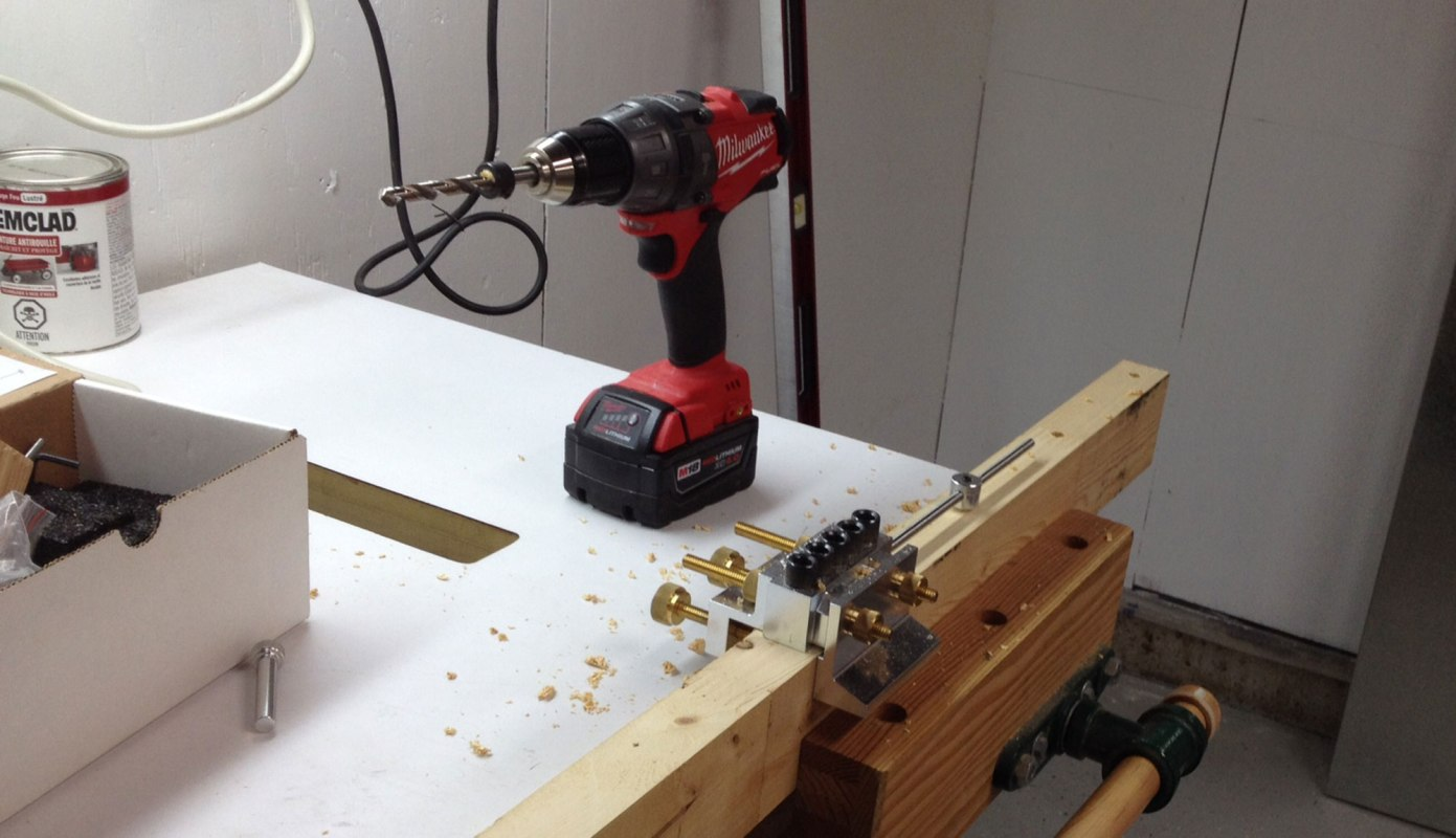 The tools we can't live without.  Milwaukee Drill and the Dowel Max