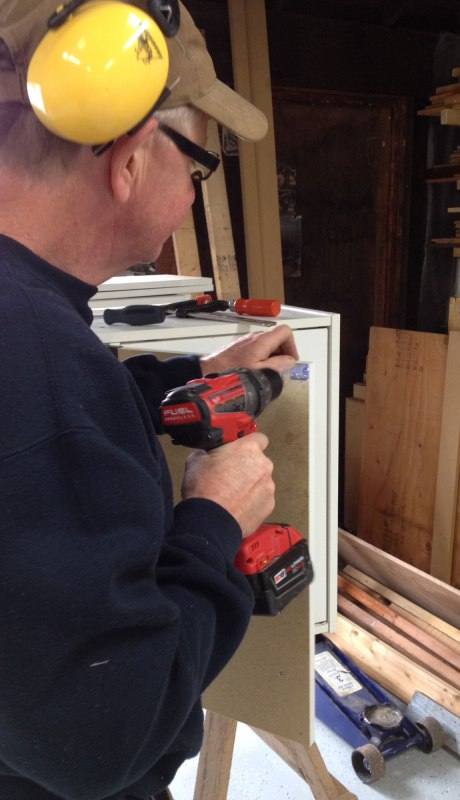 Reassembling cabinets