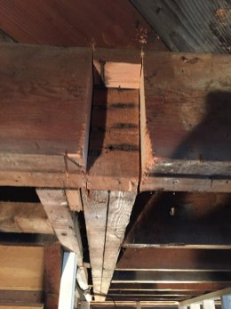 Cutting the floor joists