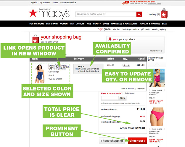 UX-Best-Practices-Macys-Cart-Page