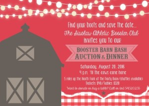 Booster Blub Barn Bash Save the date 2016
