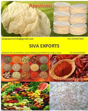 Papad Manufacturer in india, Siva exports,lion brand appalam, lion appalam, sivan appalam, appalam,papad,papadum,papadam,papadom,pappad,pappadum,pappadam,pappadom, poppadom, popadom, poppadam, popadam, poppadum, popadum, appalam manufacturers, papad manufacturers, pappadam manufacturers, papadum manufacturers, papadam manufacturers, pappad manufacturers, pappadum manufacturers, poppadom manufacturers, papadom manufacturers, popadom manufacturers, poppadum manufacturers, popadum manufacturers, popadam manufacturers, poppadam manufacturers, pappadom manufacturers, appalam manufacturers in india, papad manufacturers in india, pappadam manufacturers in india, papadum manufacturers in india, papadam manufacturers in india, pappad manufacturers in india, pappadum manufacturers in india, poppadom manufacturers in india, papadom manufacturers in india, popadom manufacturers in india, poppadum manufacturers in india, popadum manufacturers in india, popadam manufacturers in india, poppadam manufacturers in india, pappadom manufacturers in india, appalam manufacturers in tamilnadu, papad manufacturers in tamilnadu, pappadam manufacturers in tamilnadu, papadum manufacturers in tamilnadu, papadam manufacturers in tamilnadu, pappad manufacturers in tamilnadu, pappadum manufacturers in tamilnadu, poppadom manufacturers in tamilnadu, papadom manufacturers in tamilnadu, popadom manufacturers in tamilnadu, poppadum manufacturers in tamilnadu, popadum manufacturers in tamilnadu, popadam manufacturers in tamilnadu, poppadam manufacturers in tamilnadu, pappadom manufacturers in tamilnadu, appalam manufacturers in madurai, papad manufacturers in madurai, pappadam manufacturers in madurai, papadum manufacturers in madurai, papadam manufacturers in madurai, pappad manufacturers in madurai, pappadum manufacturers in madurai, poppadom manufacturers in madurai, papadom manufacturers in madurai, popadom manufacturers in madurai, poppadum manufacturers in madurai, popadum manufacturers in madurai, popadam manufacturers in madurai, poppadam manufacturers in madurai, pappadom manufacturers in madurai, best appalam manufacturers in india, best papad manufacturers in india, best pappadam manufacturers in india, best papadum manufacturers in india, best papadam manufacturers in india, best pappad manufacturers in india, best pappadum manufacturers in india, best poppadom manufacturers in india, best appalam manufacturers in madurai, best papad manufacturers in madurai, best pappadam manufacturers in madurai, best papadum manufacturers in madurai, best papadam manufacturers in madurai, best pappad manufacturers in madurai, best pappadum manufacturers in madurai, best poppadom manufacturers in Madurai, best appalam manufacturers in tamilnadu, best papad manufacturers in tamilnadu, best pappadam manufacturers in tamilnadu, best papadum manufacturers in tamilnadu, best papadam manufacturers in tamilnadu, best pappad manufacturers in tamilnadu, best pappadum manufacturers in tamilnadu, best poppadom manufacturers in Tamilnadu, appalam wholesalers, papad wholesalers, papadum wholesalers, pappadam wholesalers,pappadom wholesalers, papadam wholesalers, pappad wholesalers, pappadum wholesalers, poppadom wholesalers, papadom wholesalers, popadom wholesalers, poppadum wholesalers, popadum wholesalers, popadam wholesalers, poppadam wholesalers, appalam wholesalers in india, papad wholesalers in india, papadum wholesalers in india, papadam wholesalers in india, pappad wholesalers in india, pappadum wholesalers in india, pappadam wholesalers in india, poppadom wholesalers in india, appalam wholesalers in madurai, papad wholesalers in madurai, papadum wholesalers in madurai, papadam wholesalers in madurai, pappad wholesalers in madurai, pappadum wholesalers in madurai, pappadam wholesalers in madurai, poppadom wholesalers in Madurai, appalam wholesalers in tamilnadu, papad wholesalers in tamilnadu, papadum wholesalers in tamilnadu, papadam wholesalers in tamilnadu, pappad wholesalers in tamilnadu, pappadum wholesalers in tamilnadu, pappadam wholesalers in tamilnadu, poppadom wholesalers in Tamilnadu, appalam exporters, papad exporters, papadum exporters, pappadam exporters,pappadom exporters, papadam exporters, pappad exporters, pappadum exporters, poppadom exporters, papadom exporters, popadom exporters, poppadum exporters, popadum exporters, popadam exporters, poppadam exporters, appalam exporters in india, papad exporters in india, papadum exporters in india, papadam exporters in india, pappad exporters in india, pappadum exporters in india, pappadam exporters in india, poppadom exporters in india, appalam exporters in madurai, papad exporters in madurai, papadum exporters in madurai, papadam exporters in madurai, pappad exporters in madurai, pappadum exporters in madurai, pappadam exporters in madurai, poppadom exporters in Madurai, appalam exporters in tamilnadu, papad exporters in tamilnadu, papadum exporters in tamilnadu, papadam exporters in tamilnadu, pappad exporters in tamilnadu, pappadum exporters in tamilnadu, pappadam exporters in tamilnadu, poppadom exporters in Tamilnadu, spices manufacturers, whole spices manufacturers, ground spices manufacturers, spices exporters, whole spices exporters, ground spices exporters, spices manufacturers in india, spices manufacturers in tamilnadu, spices manufacturers in tamilnadu, whole spices manufacturers in india, whole spices manufacturers in tamilnadu, whole spices manufacturers in tamilnadu, ground spices manufacturers in india, ground spices manufacturers in tamilnadu, ground spices manufacturers in tamilnadu, dry red chilli,red chilli powder,turmeric powder,coriander powder, coriander whole,flakes, black pepper,cumin seeds, Rice,rice exporters,basmati rice exporters,non-basmati rice exporters, rice exporters in india, basmati rice exporters in india,non-basmati rice exporters in india, rice exporters in tamilnadu, basmati rice exporters in tamilnadu,non-basmati rice exporters in tamilnadu, rice exporters in tamilnadu, basmati rice exporters in tamilnadu,non-basmati rice exporters in tamilnadu,