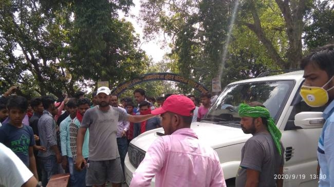 Angry students protested due to higher registration fee in Maghar