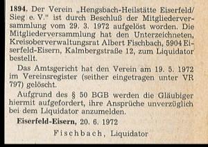 aus: Amtsblatt für den Regierungsbezirk Arnsberb, Nr. 27, ausgegeben am 1. Juli 1972
