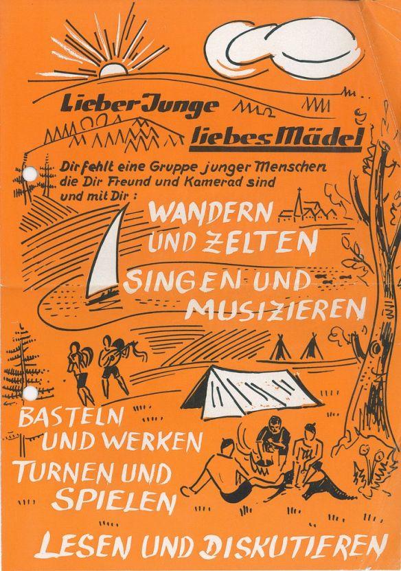 Werbeblatt (Vorderseite) aus: 3.14. (Nachlass Erhard Krämer), A 8