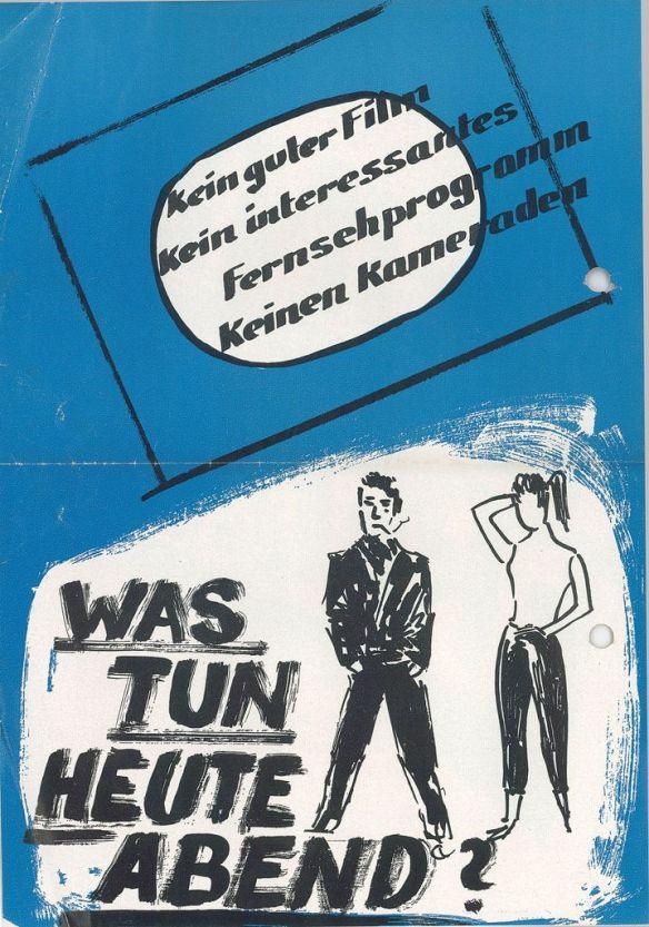 Werbeblatt (Rückseite) aus: 3.14. (Nachlass Erhard Krämer), A 8