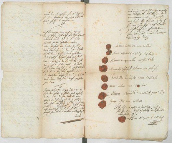 Letzte Seite der Kapitularordnung von 1692 (LAV NRW W Stift Keppel - Akten Nr.1, fol.20)