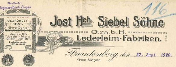 SiebelFreudenberg 1920
