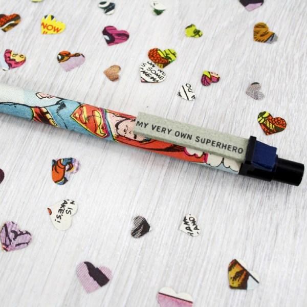 superhero gift for him. Comic book pen