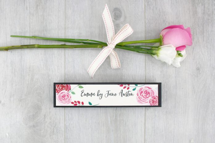 set of literary pencils gifts for Jane Austen fans by six0six design