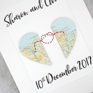 wedding gifts for travel lovers map keepsakes 1