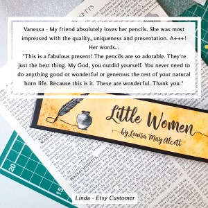 etsy customer review of my little women pencils gifts for book lovers