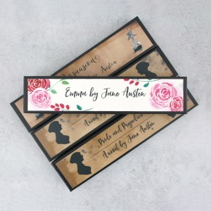 the Jane Austen gift bundle pencil sets handmade just for you by six0six design