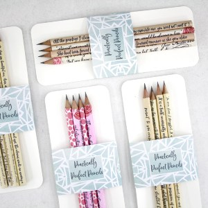 practically perfect pencils from six0sixdesign sets of 4 pencils for sale