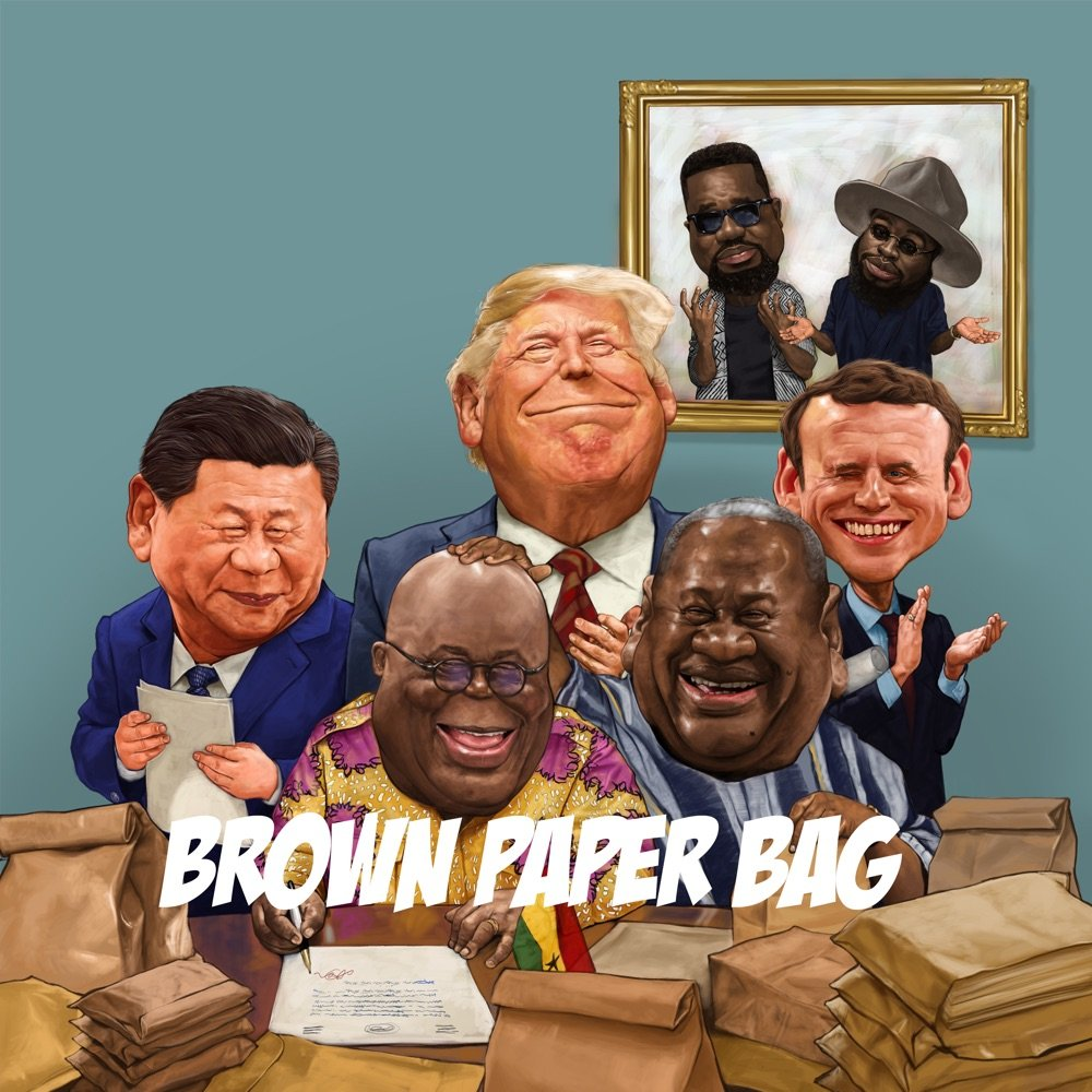 Sarkodie Brown Paper Bag