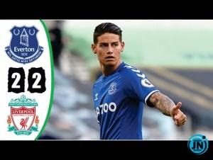 Highlights Everton vs Liverpool 2 2 Goals Highlights