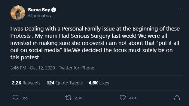 See His Tweet
