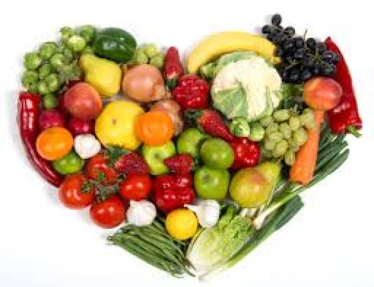 Colourful and dry fruits and vegetables