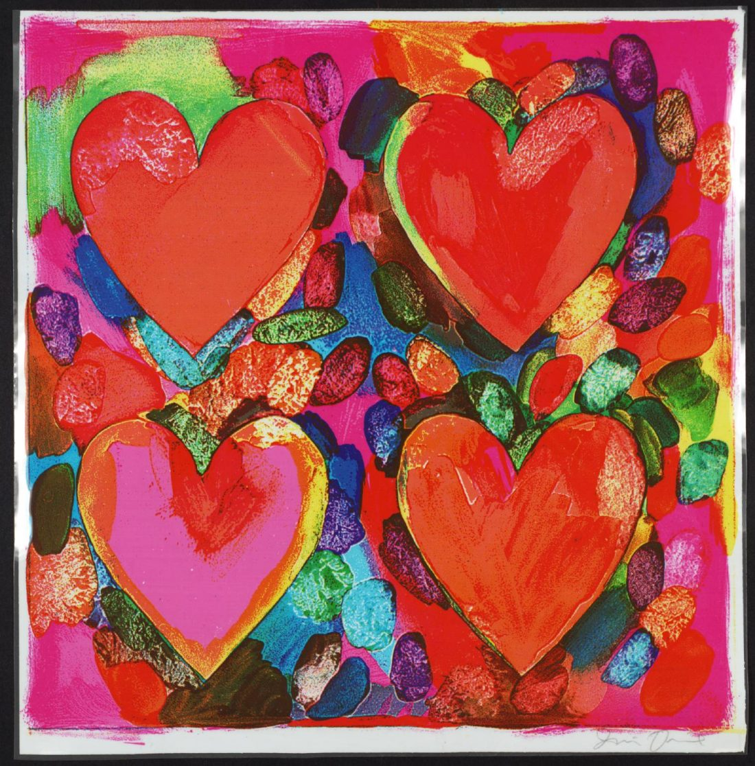 """Four Hearts"" by Jim Dine (Source: Tate)"