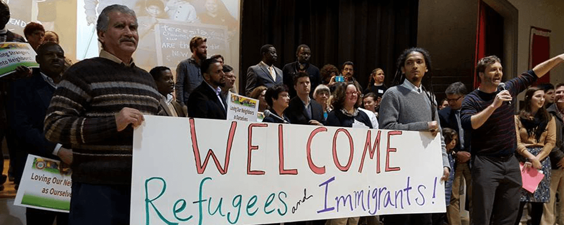Welcoming Refugees and Immigrants (Source: Source: American Friends Service Committee of the Carolinas/Facebook)