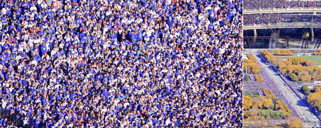 Chicago Cubs Victory Crowd (Source: Brad Edwards/Twitter)