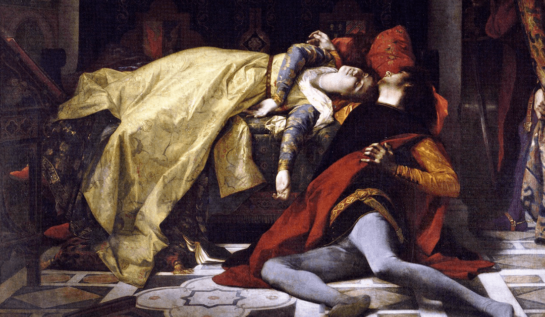 """The Death of Francesca da Rimini and Paolo Malatesta"" by Alexander Cabanel (Source: Wikimedia Commons)"