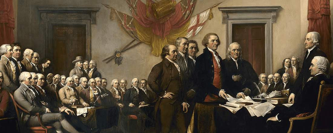 "John Trumbull's ""Declaration of Independence"" (Source: Wikimedia Commons)"