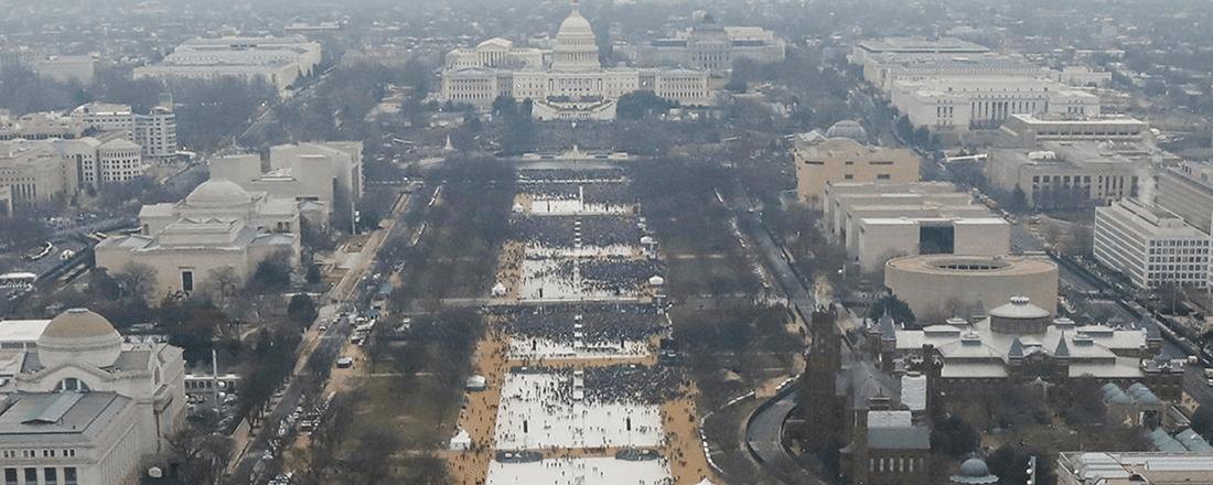 Donald Trump's Inauguration Crowd (Source: BBC)