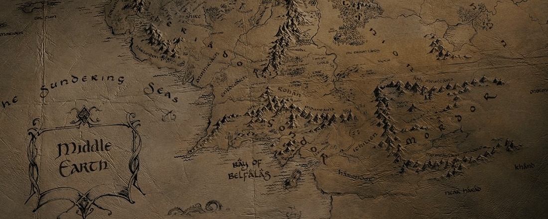 Map of Middle-Earth (Source: LOTR Wikia)